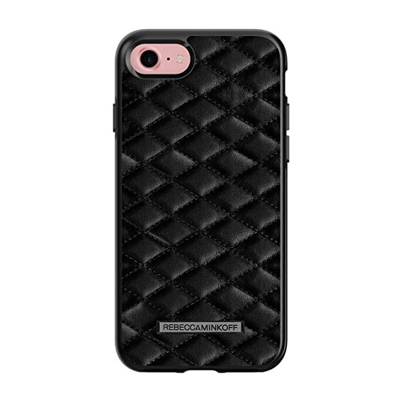huge discount 95fc8 340a3 Rebecca Minkoff iPhone 7 Case, Luxe Double Up Designer Phone Case  [Protective] fits Apple iPhone 7 - Quilted Black