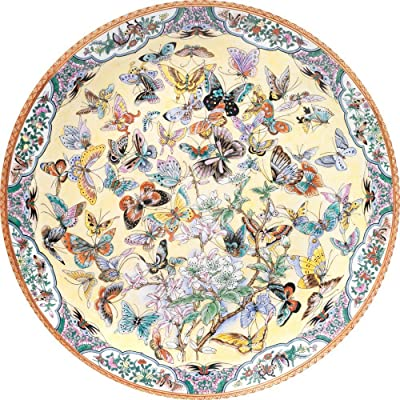 Bits and Pieces - 1000 Piece Round Puzzle - Ninety Nine Butterflies, Flowers and Butterflies - - 1000 pc Jigsaw: Toys & Games