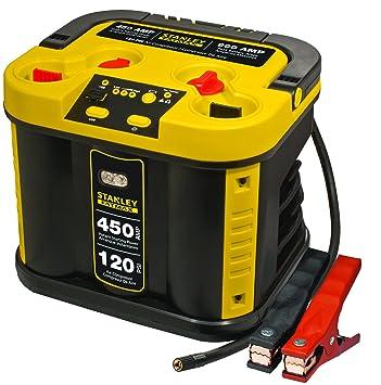 Stanley js900cse Batería Estilo Jump Starter con compresor, 450 A, 120 PSI