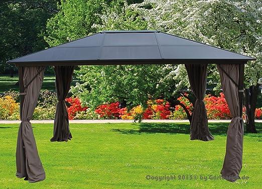 Amazon De Pavillon 3x4 M Alu Taupe Dach Polycarb