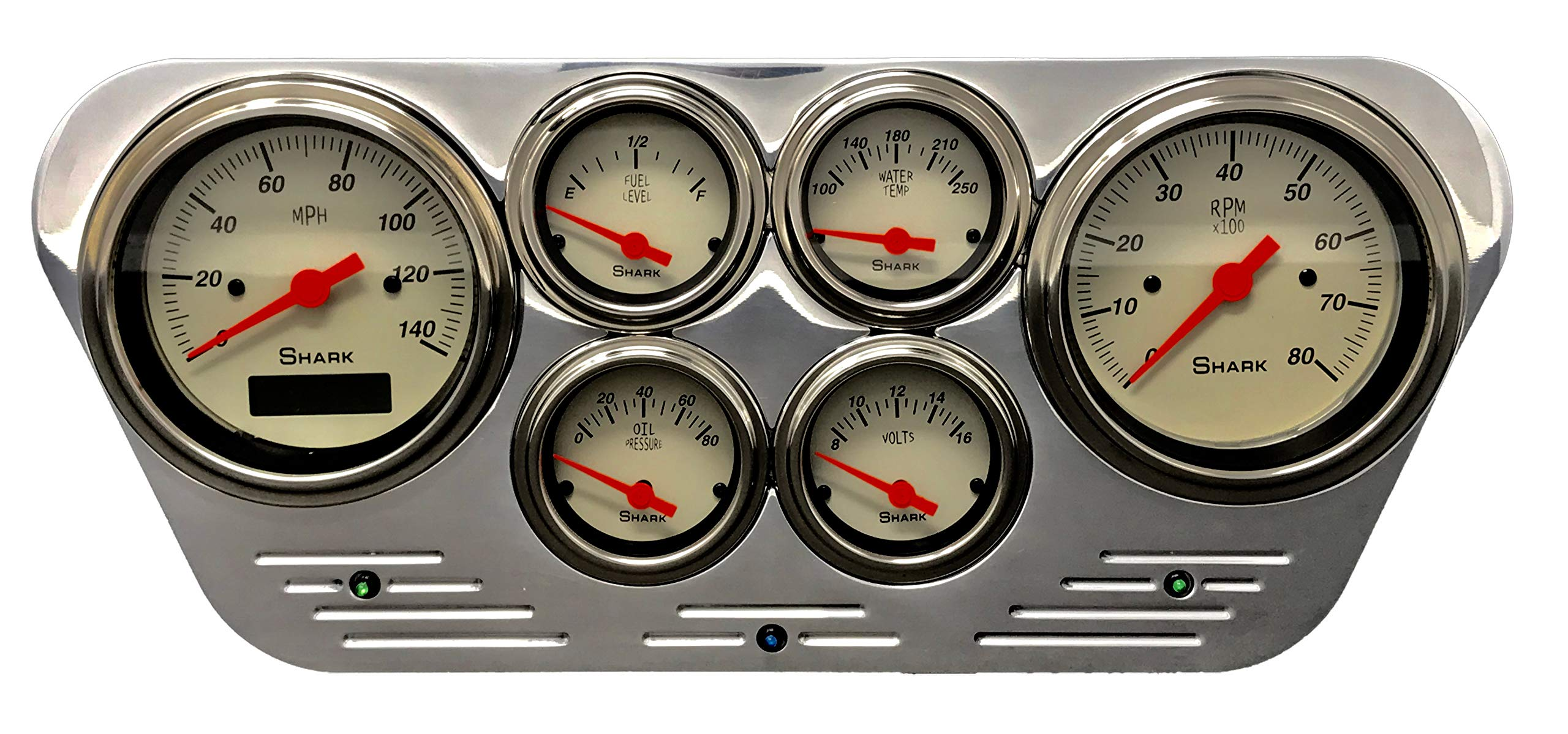 Dolphin Gauges Compatible with 1953 1954 1955 Ford Truck 6 Gauge Dash Cluster Panel Set Programmable Shark by Dolphin Gauges