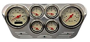 Dolphin Gauges 1953 1954 1955 Ford Truck 6 Gauge Dash Cluster Panel Set Programmable Shark