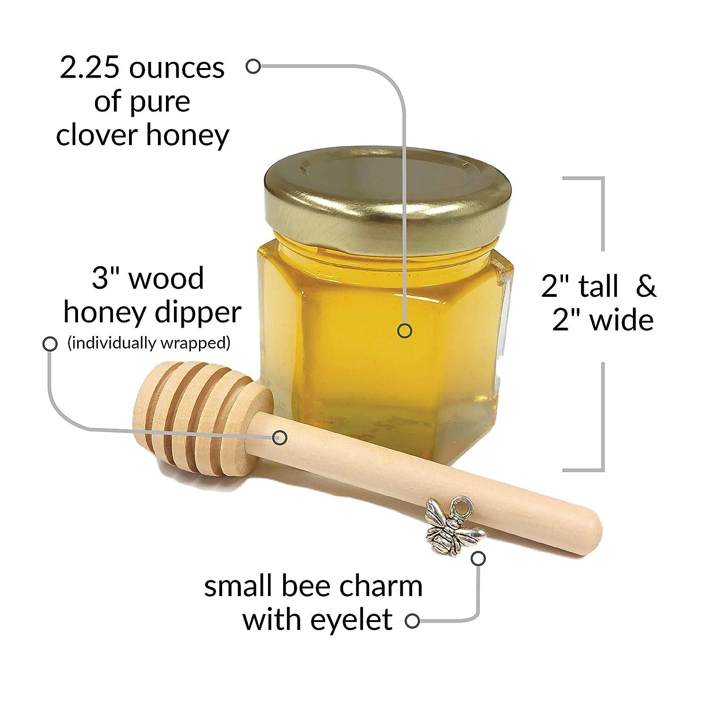 Kit de regalo de boda de miel de 2 onzas, fiesta, evento con ...