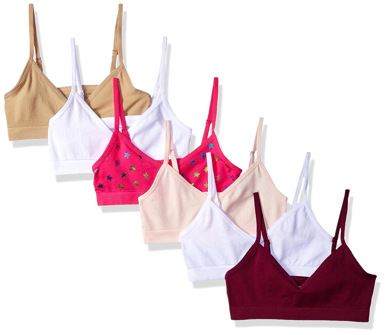 cdb10cda0d9a07 Amazon.com  Maidenform Girl Big Girls  Seamless V-Neck Crop Bra  Training  Bras  Clothing