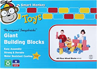 product image for Smart Monkey Toys Giant Building Block 40-Piece Set
