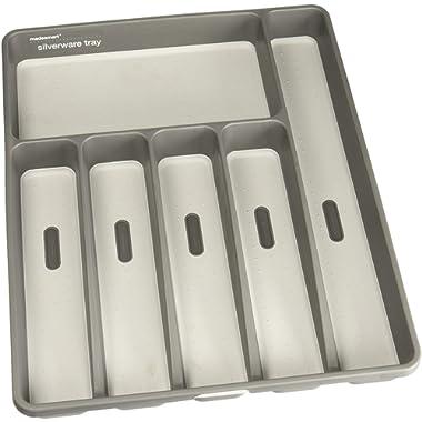 madesmart Clear Large Silverware Tray, Granite