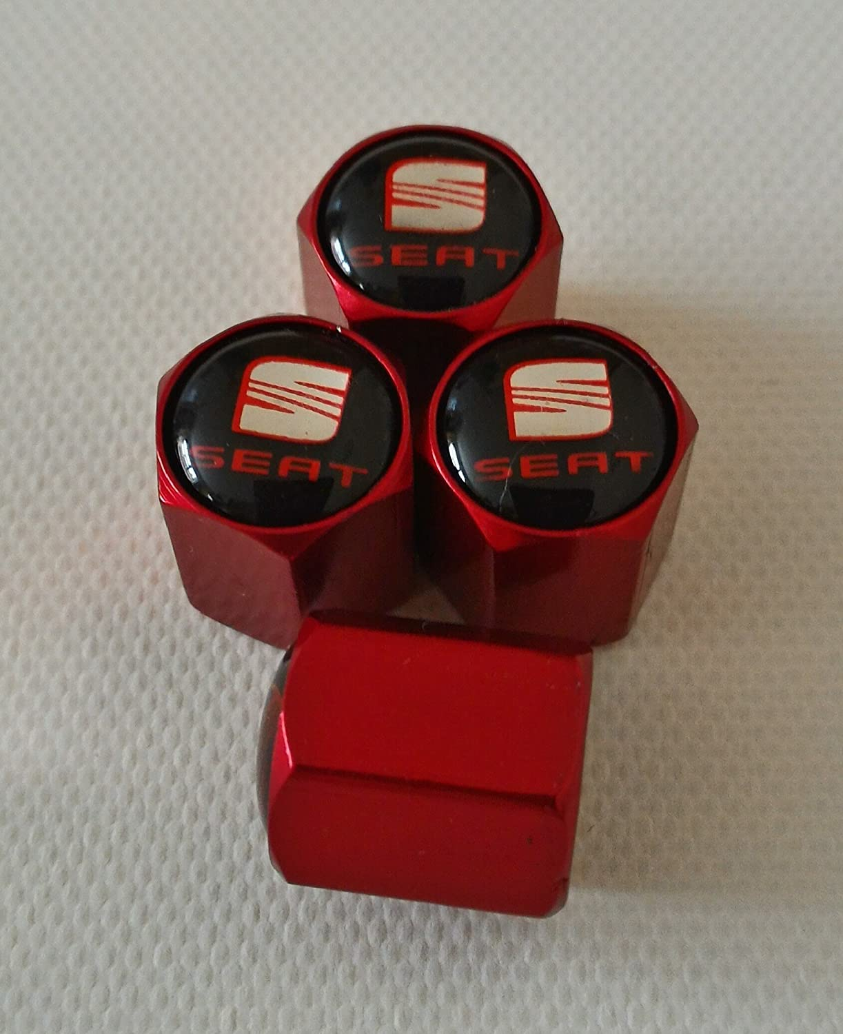 Speed Demons SPIDERMAN MATTE RED Wheel Valve Dust Caps EXCLUSIVE TO US ALL MODELS
