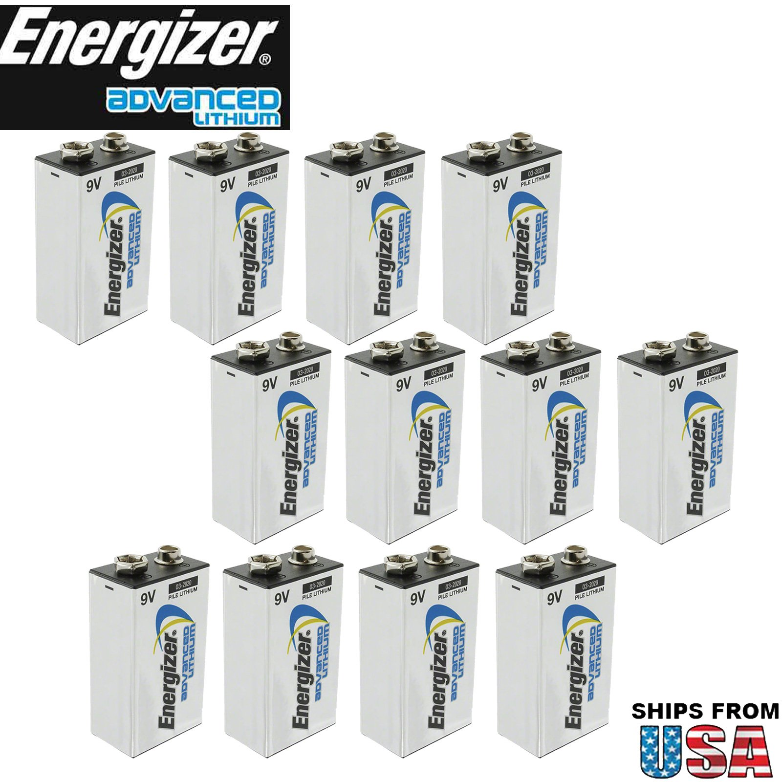 Captivant Amazon.com: Energizer 12pk 9V Advanced Lithium Batteries LA522 Bulk: Health  U0026 Personal Care
