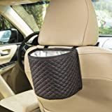 SANDY ROAD Premium Car Trash Can Car Accessories with 100% Waterproof interior and Car Trash bag with Adjustable strap, Car Garbage Can also a Car Organizer and Travel Cooler [SIZE: 18 X 11.5 X 18 cm]