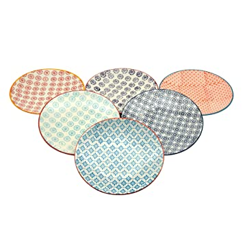 Nicola Spring Patterned Side / Dessert Plates - 180mm (7 Inches) - 6 Designs - Box Of 6 Amazon.co.uk Kitchen \u0026 Home  sc 1 st  Amazon UK & Nicola Spring Patterned Side / Dessert Plates - 180mm (7 Inches) - 6 ...
