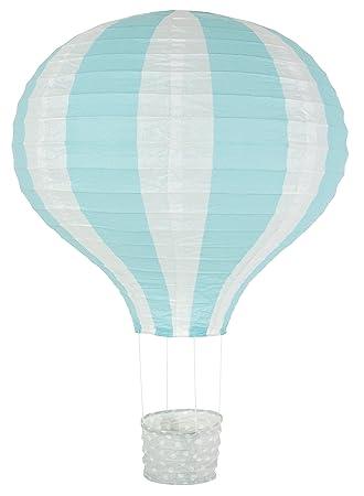 Jabadabado Lampenschirm Ballon Hellblau Pastell Heissluftballon