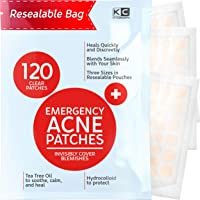 Acne Patches (120 Pack), Hydrocolloid Acne Patch with Tea Tree Oil - Pimple Patches for Face - Zit Patch and Pimple…