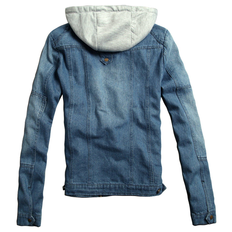 Mens Casual Denim Jackets Autumn Spring Hoodies Outerwear Plus Size M-5XL Male Hooded Jakcet JJ1