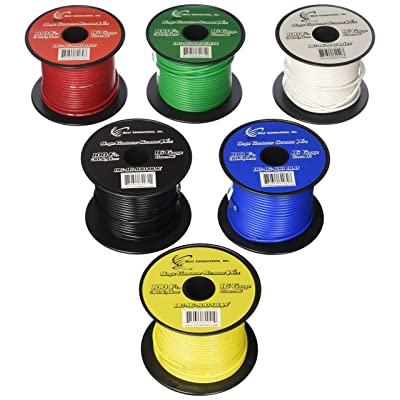 6 Rolls 16 Gauge 100' Feet Single Conductor Stranded Remote Wire 600' Total: Home & Kitchen