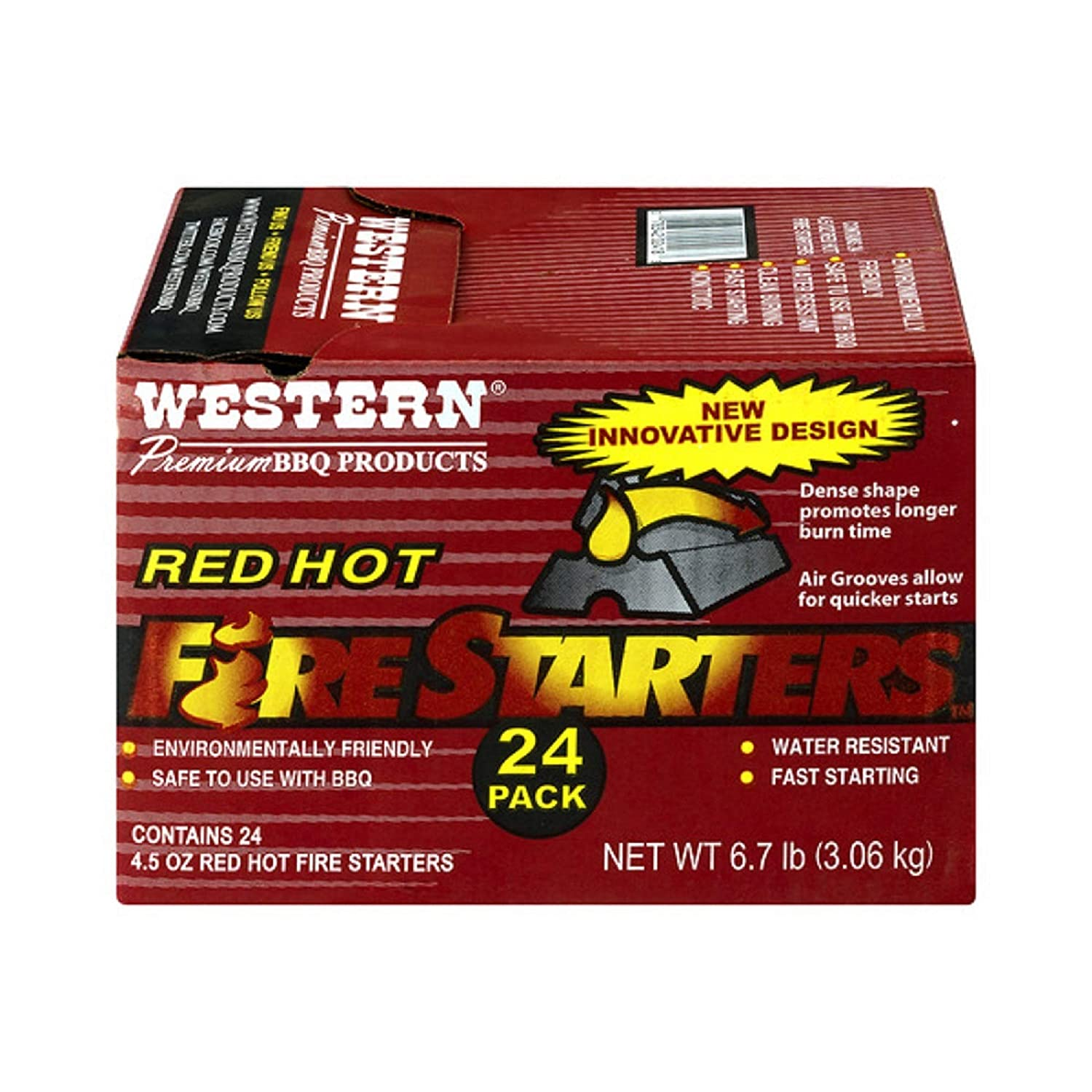 Western Premium BBQ Products Red Hot Fire Starters, 24 Pack WW Wood inc 02418