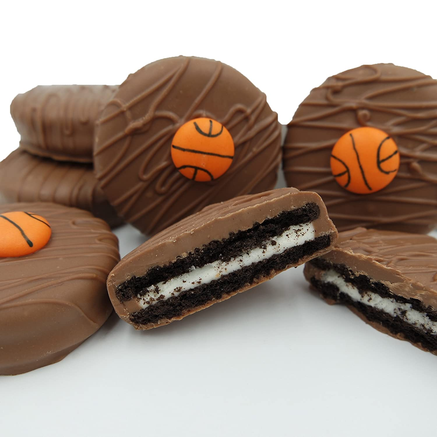 Philadelphia Candies Milk Chocolate Covered OREO Cookies, Basketball Gift Net Wt 8 oz