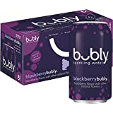 bubly Sparkling Water, Blackberry, 12 fl oz Cans (Pack of 8)