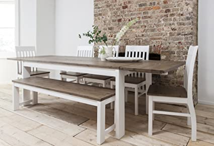 Noa and Nani - Conjunto de mesa de comedor, 5 sillas y banco y 2 ...
