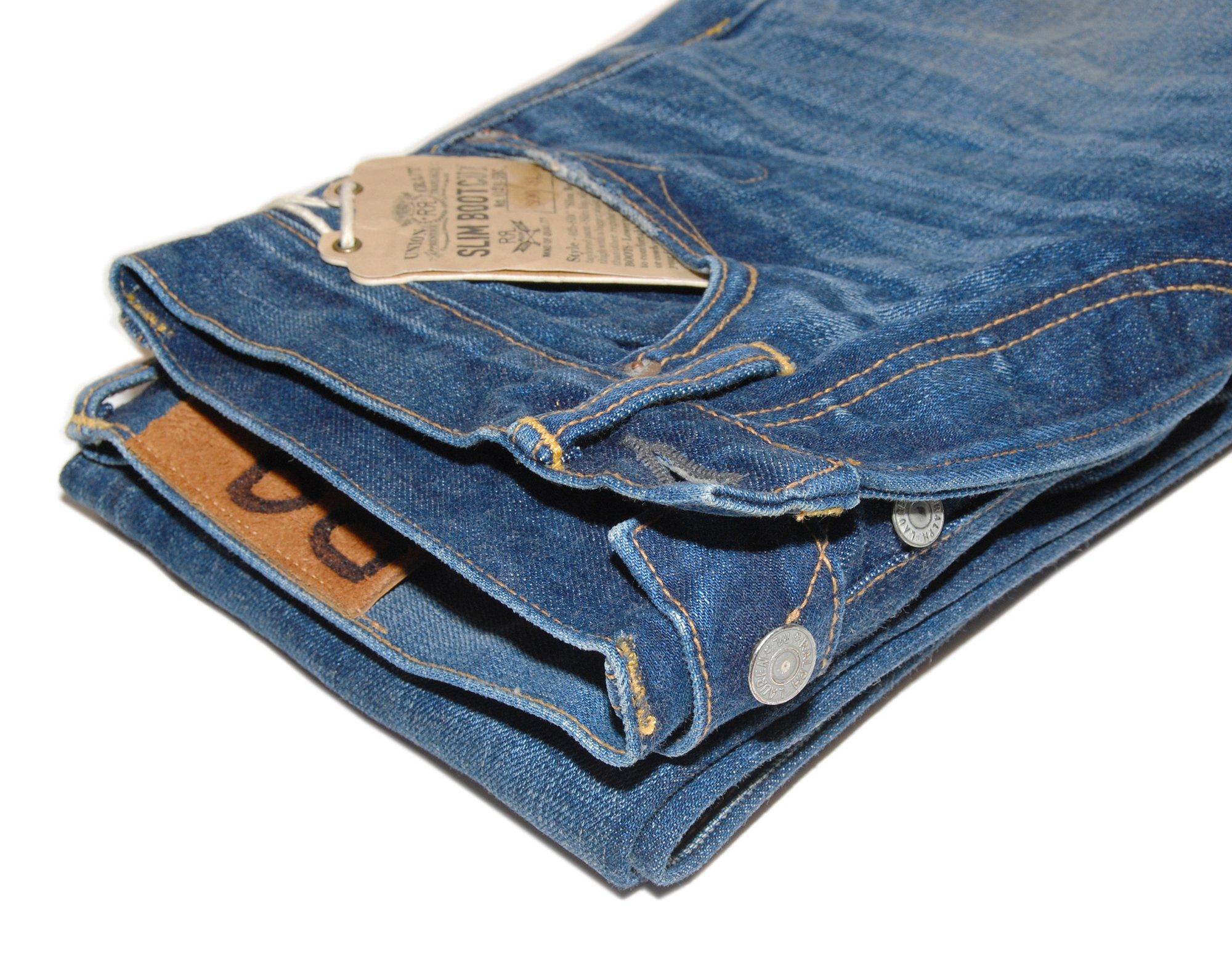 Ralph Lauren Double RL RRL Mens Denim Slim Bootcut Selvedge Jean Pants USA 27/34