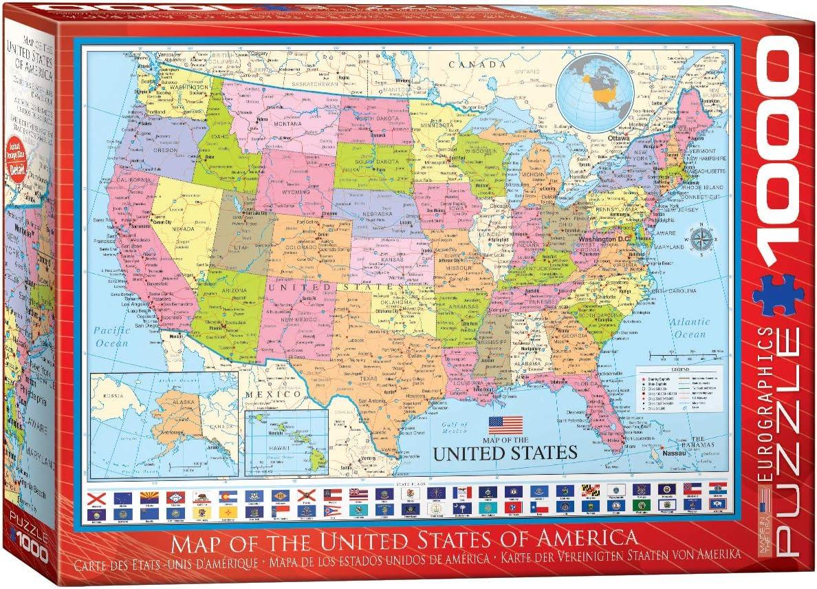 """Eurographics 6000-0789 /""""Carte de l/'Europe Puzzle 1000 pièces"""