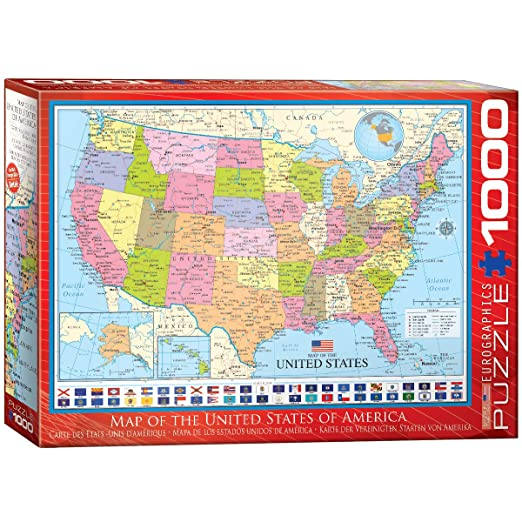 EuroGraphics Map of The United States Puzzle (1000 Piece) on usa states map, hungary states map, red states map, un states map, so states map, union states map, best states map, hot states map, german states map,