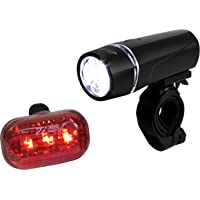 BV Bicycle Light Set Super Bright 5 LED Headlight + 2 BV Bike Water Bottle Cage