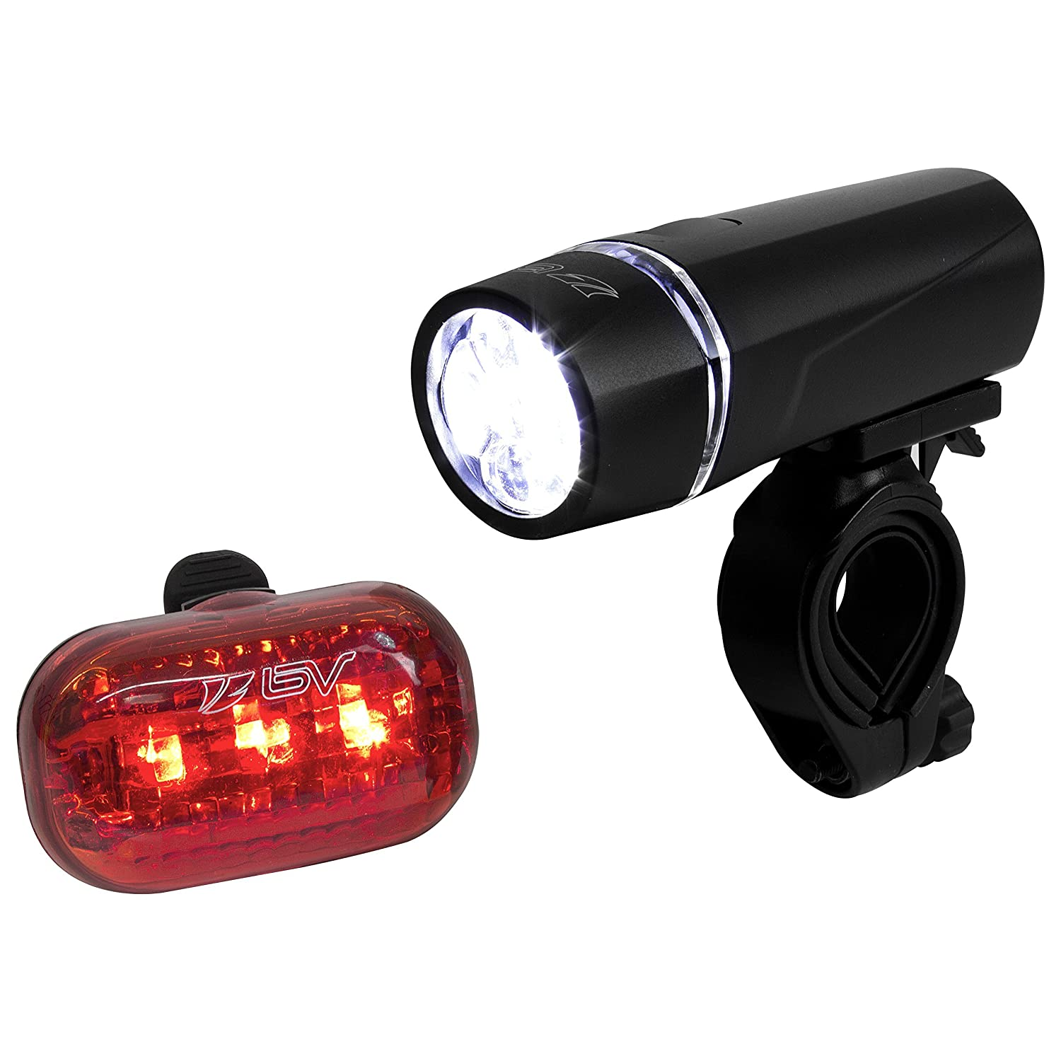Super Bright 5 Led Headlight, 3 LED Taillight