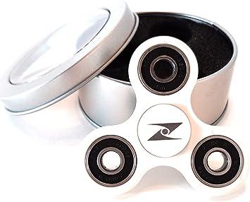 Z SPINNERS – Fidget Spinner (Blanco con Negro): Amazon.es ...