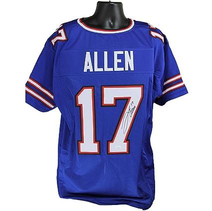 Josh Allen Autographed Buffalo Bills Blue Custom Jersey wJSA COA at