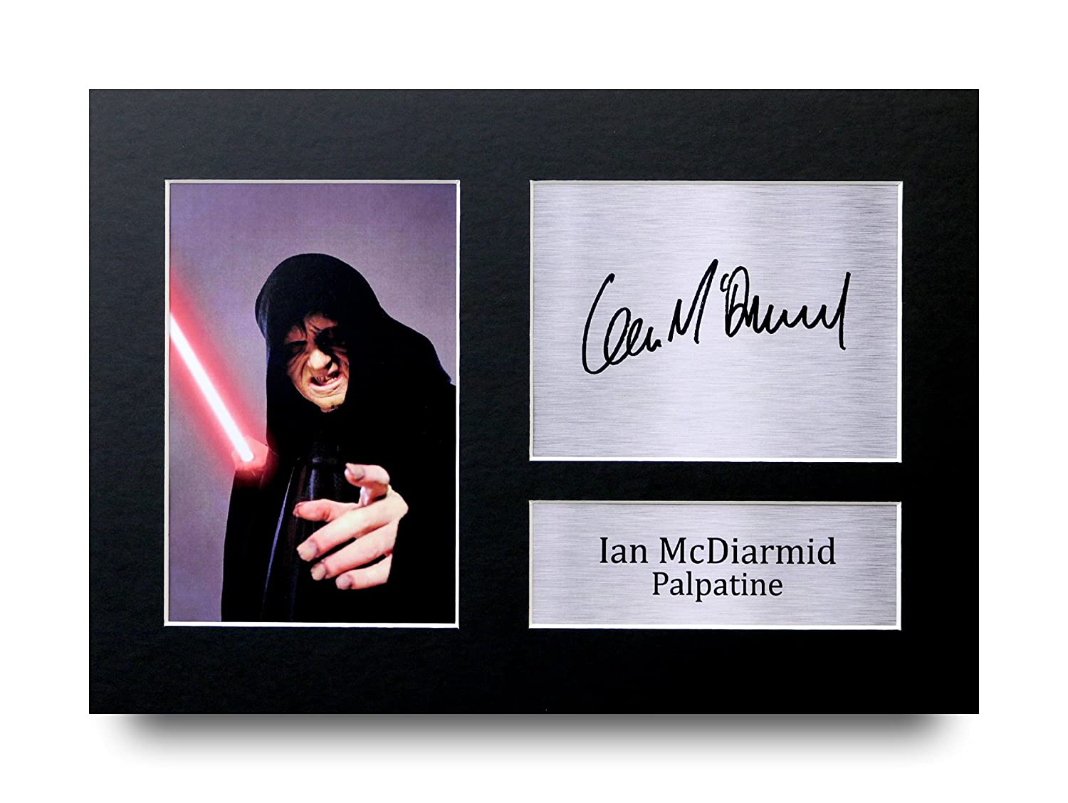 HWC Trading Ian McDiarmid Gift Signed A4 Printed Autograph Star Wars Gifts Palpatine Print Photo Picture Display