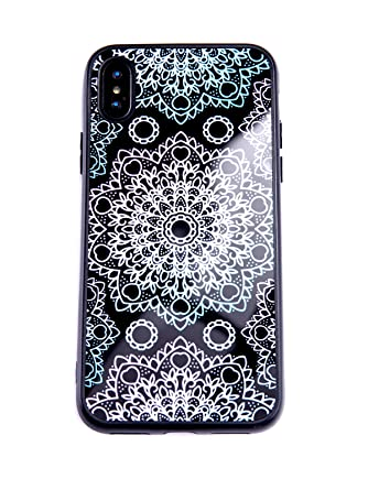 Amazon.com: LuGeKe Henna Mandala - Carcasa híbrida de TPU y ...
