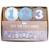 Mud Pie Monthly Milestone Photo Banner, Boy, Blue
