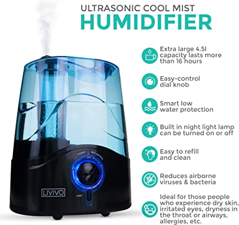 5 Best Humidifier For Dry Skin, Sinus And Allergies