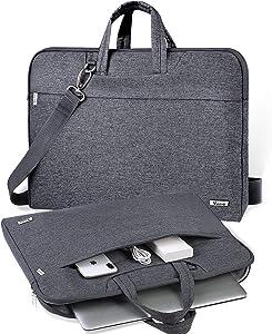 V Voova Laptop Case 14 15 15.6 inch Laptop Messenger Bag Protective Chromebook Bag With Shoulder Strap Compatible for 16