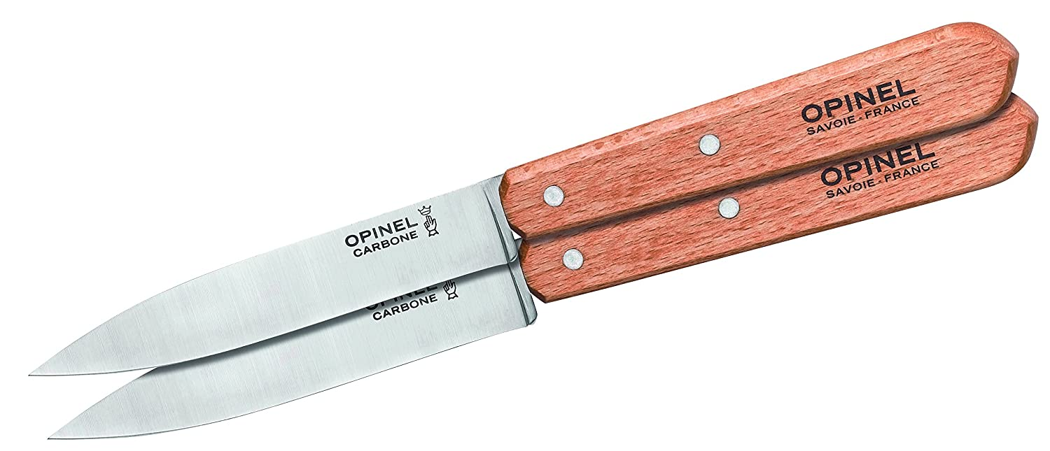Opinel Set of 2 paring knives No.102- Carbon 1222