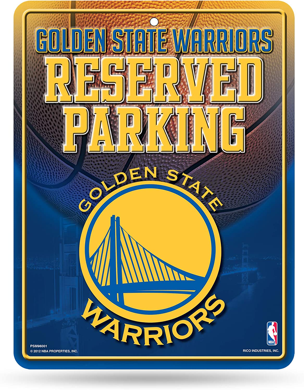 Rico Industries NBA Atlanta Hawks 8-inch by 11-inch Metal Parking Sign Décor