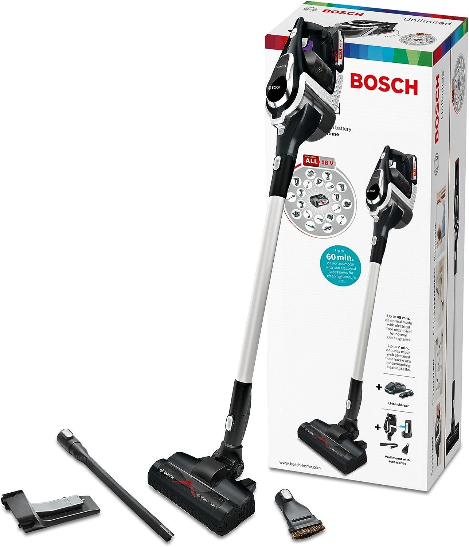 Bosch BBS1114 - Aspiradora de mano inalámbrica ilimitada Serie 8 (batería multidispositivo de 18 V, batería reemplazable, tiempo de funcionamiento extensible, limpieza del piso al techo), negro: Amazon.es: Hogar