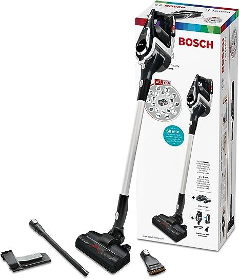 Bosch BBS1114 Unlimited Serie 8 kabelloser Handstaubsauger (18V Mehr Geräte Akku, austauschbarer Akku, verlängerbare Laufzeit, Reinigung vom Boden bis