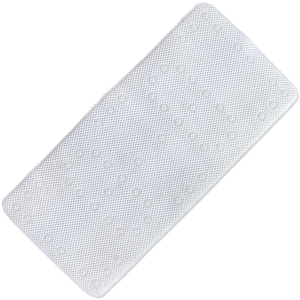 WIOR Non Slip Bathtub Mat with 58 Suction Cups PVC Foam Hollow-Out Bath Shower Mat Anti-Bacterial Mildew Resistant Bathmat for Bathroom Hotels Spas