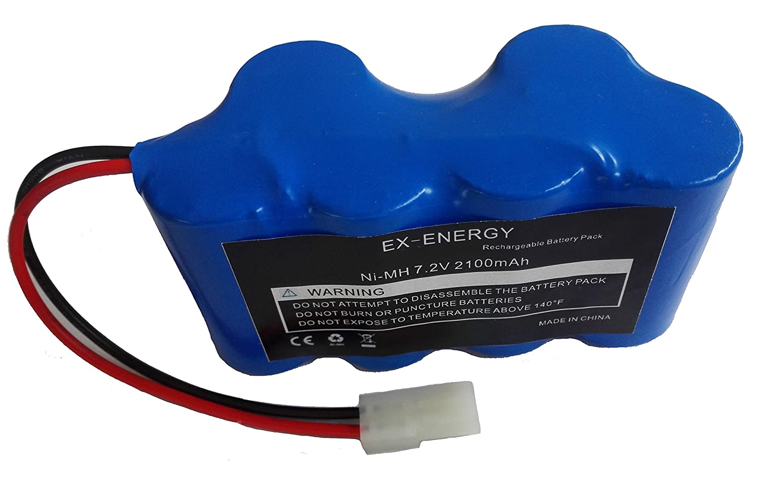 EX-ENERGY Euro Pro Shark 7.2V 2.1Ah Ni-MH Replacement Battery Pack for Shark Vacuum V1950 VX3 Replacing XB1918
