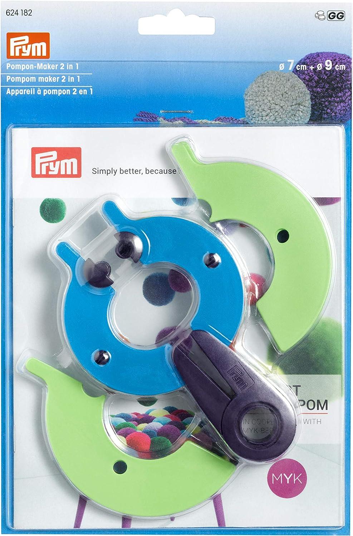 Prym Máquina para hacer pompones 2 en 1, tamaño L