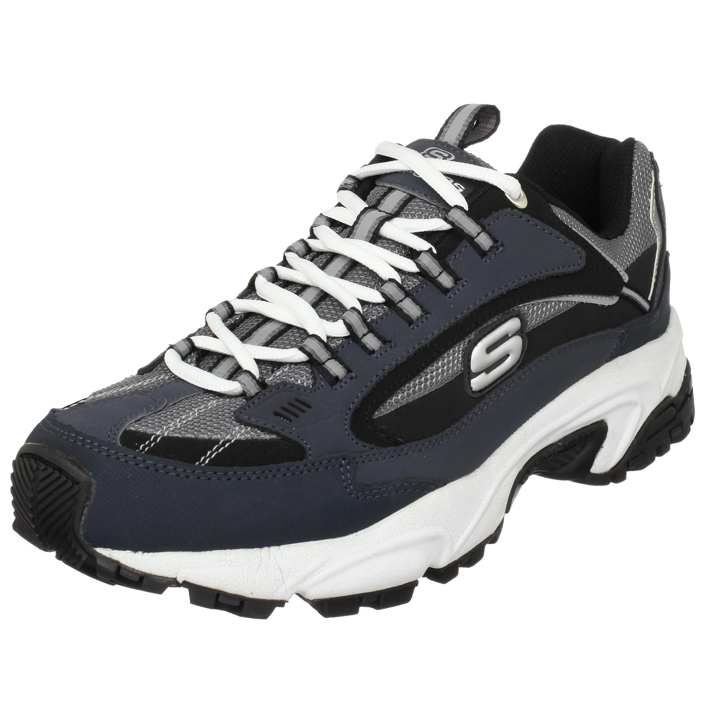 Skechers Sport Men's Stamina Nuovo Cutback Lace Up Sneaker,NavyBlack,10.5 M US