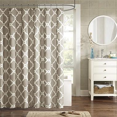 Madison Park Merritt Shower Curtain Taupe 72x72