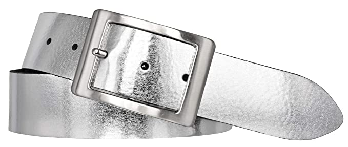 59a12172e5ec92 Bernd Götz Damen Leder Gürtel 35 mm silber Nappaleder kürzbar Damengürtel  (80 cm)