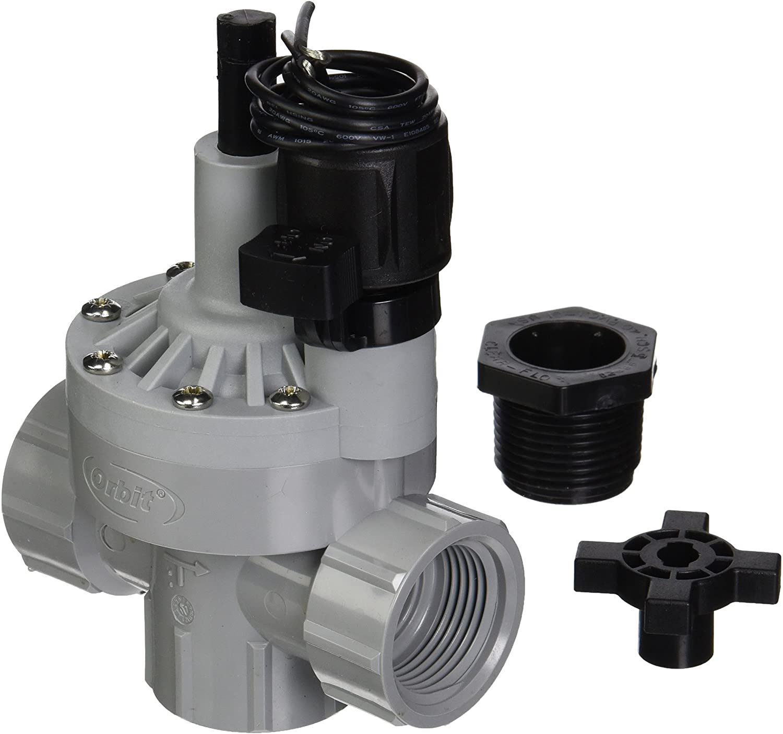 Amazon Com Orbit Sprinkler System 1 Inch Fnpt Auto Inline Angle Valve Wfc 57020 Hydraulic Valves Garden Outdoor
