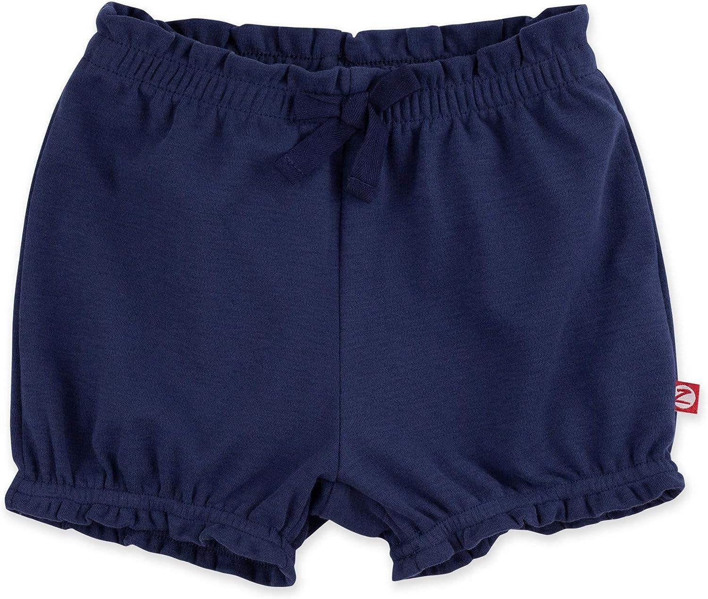 Zutano Baby Girl Organic Cotton Ruffle Shorts Baby Bloomers