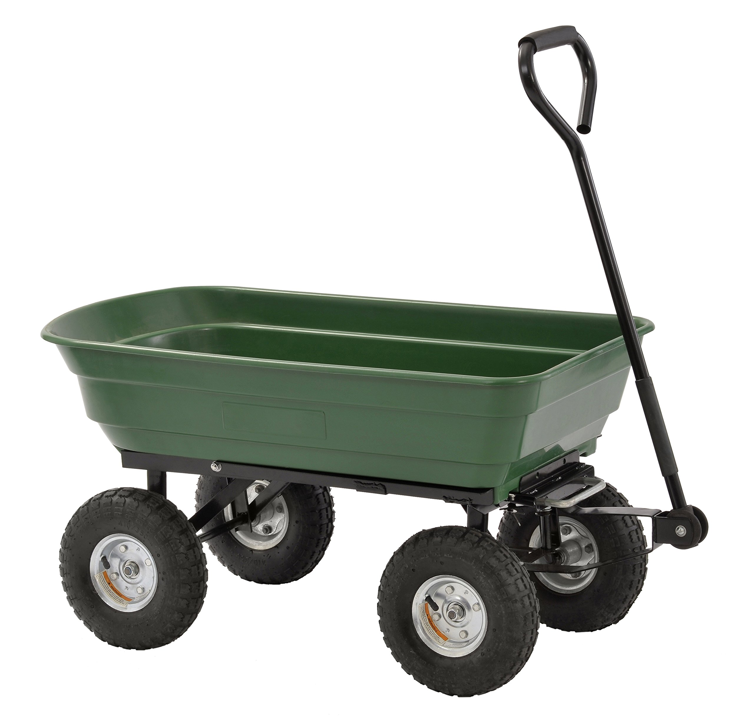Sandusky Lee Pw3720 Steel/Poly Crate Wagon, 550 lb Load Capacity, 37'' Length, 20'' Width, 20'' Height, Green