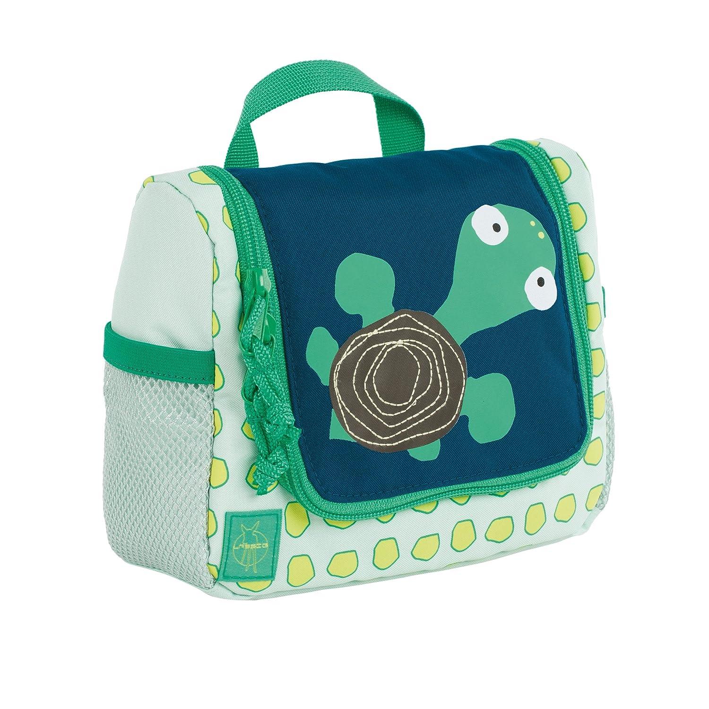 Lässig Mini Washbag Kulturtasche Waschbeutel zum Aufhängen, Kindergepäck, Wildlife Schildkröte, Kosmetikkoffer, 20 cm, Blue