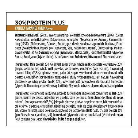 Powerbar Protein Plus Bar 30% Vanilla Caramel Crisp - 15 Barras: Amazon.es: Salud y cuidado personal