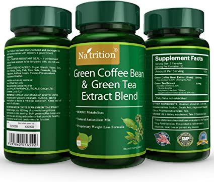 Amazon Com Natrition Green Coffee Bean Plus Green Tea Extract